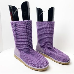 Ugg Short Purple Cardy Boots